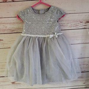 Silver Christmas dress